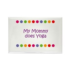 My Mommy does Yoga Rectangle Magnet