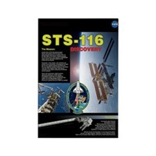 STS 116 Shuttle Mission Poster Rectangle Magnet