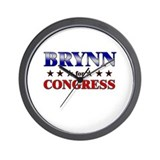 BRYNN for congress Wall Clock