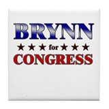 BRYNN for congress Tile Coaster