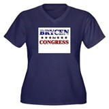 BRYCEN for congress Women's Plus Size V-Neck Dark