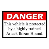 Attack Ibizan Hound Decal