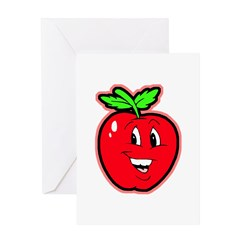Happy Apple Greeting Card