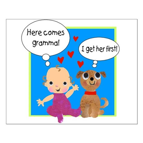 Grandma Love Small Poster