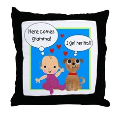 Grandma Love Throw Pillow