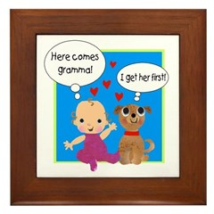 Grandma Love Framed Tile