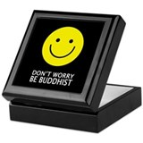 Don't Worry Be Buddhist Keepsake Box