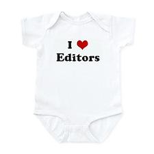I Love Editors Infant Bodysuit