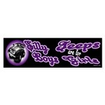 Jeeps are for Girls Bumper Sticker
