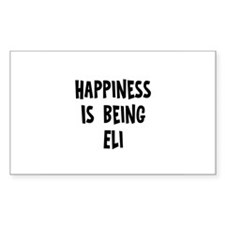 Happiness is being Eli Rectangle Decal
