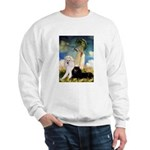 Umbrella / 2 Poodles(b & w) Sweatshirt