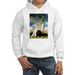 Umbrella / 2 Poodles(b & w) Hooded Sweatshirt