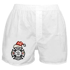 Firefighter Santa Boxer Shorts