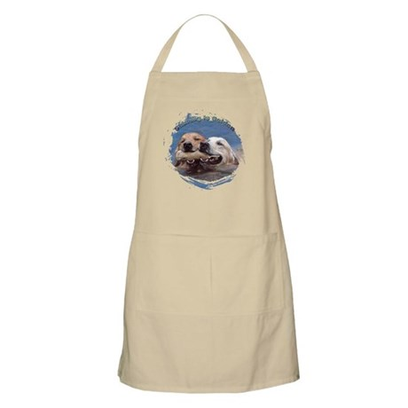 Golden Retriever - Sharing is BBQ Apron