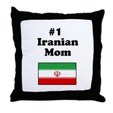 #1 Iranian Mom Throw Pillow