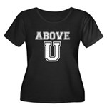 Above U Women's Plus Size Scoop Neck Dark T-Shirt
