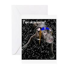 Yentle Dog Hanukkah Card