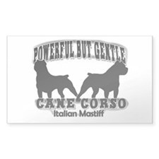 Powerful Cane Corso Rectangle Decal