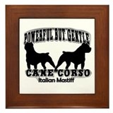 Powerful Cane Corso Framed Tile