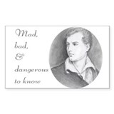 Byronic Rectangle Bumper Stickers