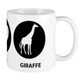 Love Peace Giraffe Small Mug