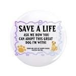 "Save a Life 3.5"" Button (100 pack)"