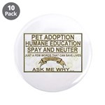 "Slogans 3.5"" Button (10 pack)"