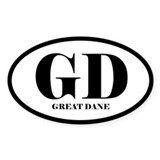 GD Great Dane Decal