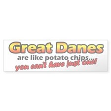 Potato Chips Great Dane Bumper Bumper Sticker