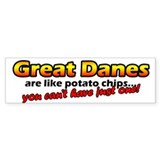 Potato Chips Great Dane Bumper Bumper Stickers