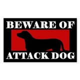 Beware of Attack Dog Greater Swiss Mtn Dog Decal