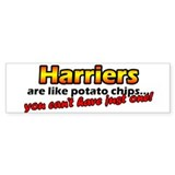 Potato Chips Harriers Bumper Bumper Sticker