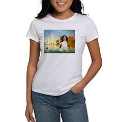 Sailboats / Eng Spring Women's T-Shirt
