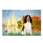 Sailboats / Eng Spring Postcards (Package of 8)