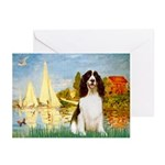 Sailboats / Eng Spring Greeting Cards (Pk of 20)