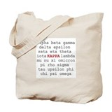 Kappa Greek Alphabet Tote Bag