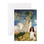 Umbrella / Eng Spring Greeting Cards (Pk of 10)