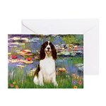 Lilies / Eng Spring Greeting Cards (Pk of 10)