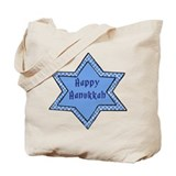 Happy Hanukkah Star 4 Tote Bag