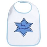 Happy Hanukkah Star 4 Bib