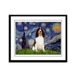 Starry Night / Eng Spring Framed Panel Print