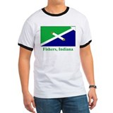 Fishers IN Flag T