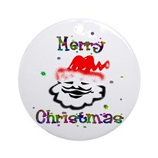 Merry Christmas Santa - Ornament (Round)