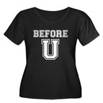 Before U Women's Plus Size Scoop Neck Dark T-Shirt