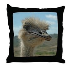 Olivia Ostrich Throw Pillow