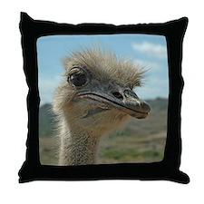 Olivia Ostrich Throw Pillow