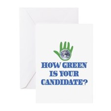 Vote Green Greeting Cards (Pk of 10)