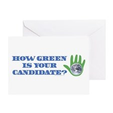 Vote Green Greeting Card