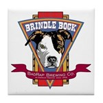 Brindle Bock Tile Coaster