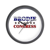 BRODIE for congress Wall Clock